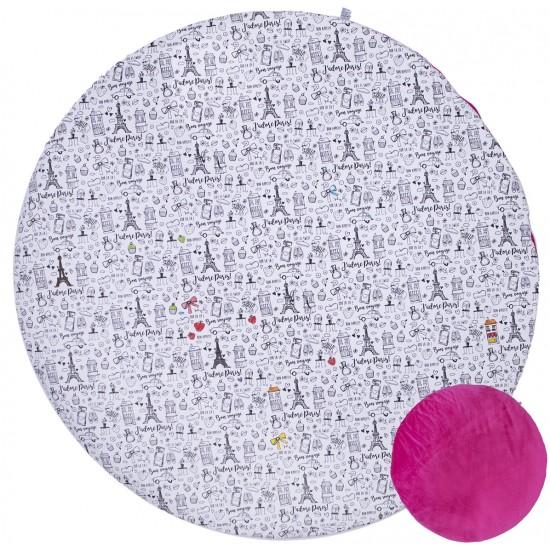 Tapis de jeu réversible à colorier (verso rose fushia) - Tapis de jeu et cale-bébés par BB&Co