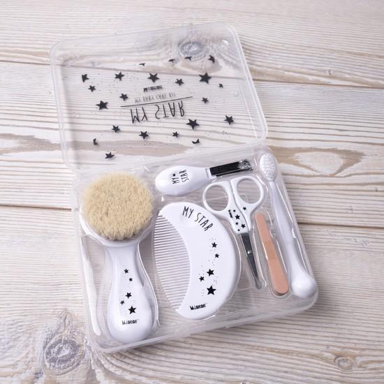 Coffret accessoires de toilette - blanc - Accessoires de toilette par Minene