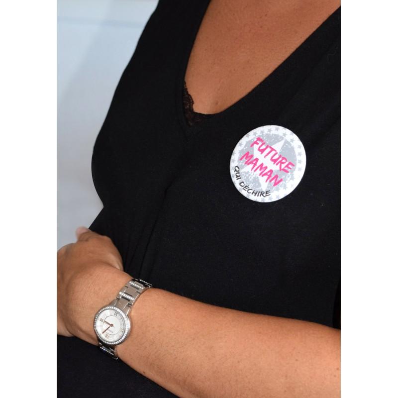 """Badge """"Future Maman qui déchire"""" - Idées Cadeaux par BB&Co"""