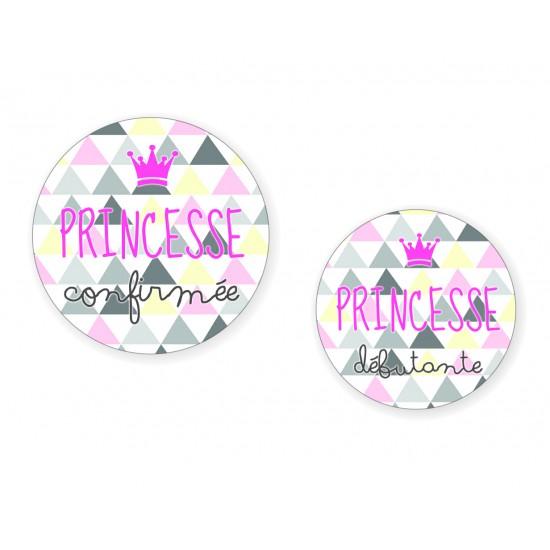 """Duo Badges """"Princesse"""" mère & fille - Idées Cadeaux par BB&Co"""