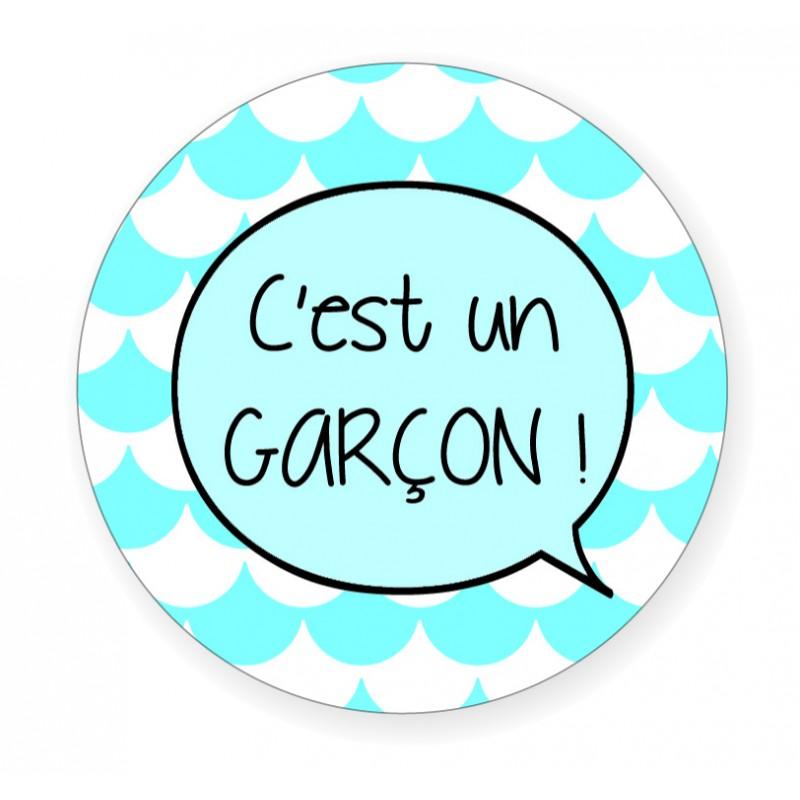 """Badge """"C'est un garçon!"""" - Idées Cadeaux par BB&Co"""