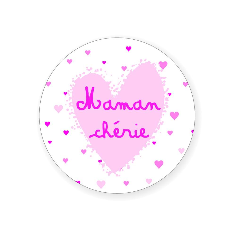 """Badge """"Maman chérie"""" - Idées Cadeaux par BB&Co"""