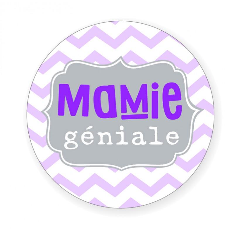 """Badge """"Mamie géniale"""" - Idées Cadeaux par BB&Co"""