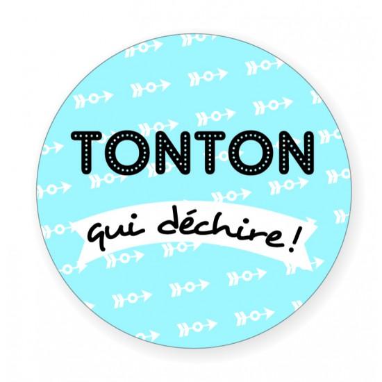 """Badge """"Tonton qui déchire"""" - Idées Cadeaux par BB&Co"""