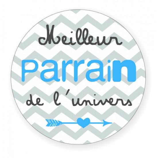 """Badge """"Meilleur Parrain"""" - Idées Cadeaux par BB&Co"""