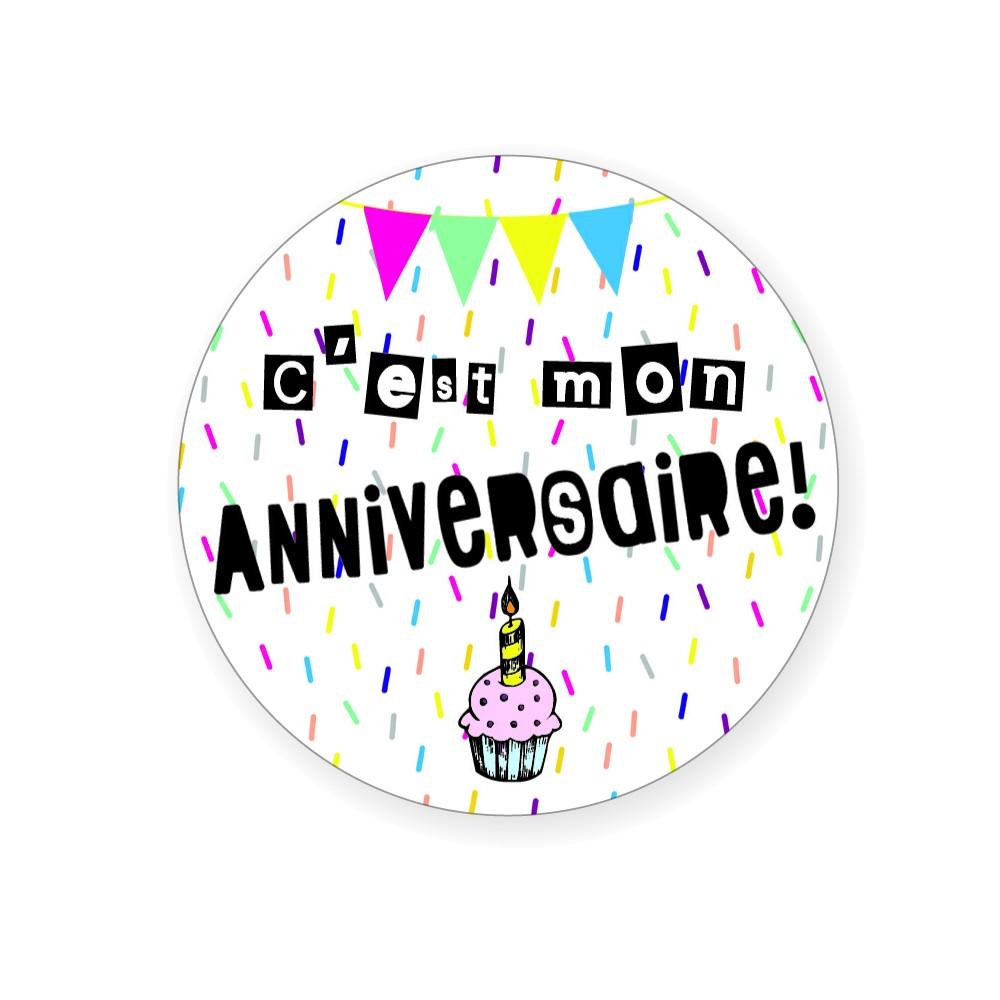 """Badge """"C'est mon anniversaire"""" - Idées Cadeaux par BB&Co"""