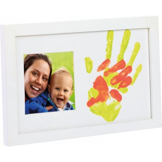 """Cadre """"Bébé & Moi"""" photo + empreintes - Empreintes bébé et Cadres photo par Happy Hands"""