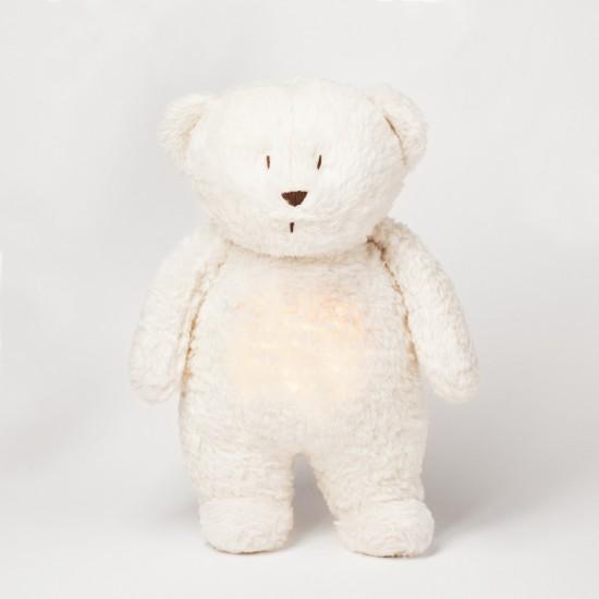 Moonie l'ourson magique avec sons & lumières - Blanc polaire - Eveil & Jeu par Moonie