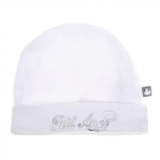 """Bonnet """"Petit Ange"""" blanc/argent - Bonnets par BB&Co"""