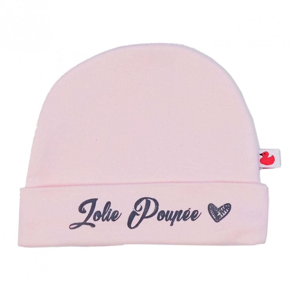 """Bonnet """"Jolie Poupée"""" rose pastel - Bonnets par BB&Co"""