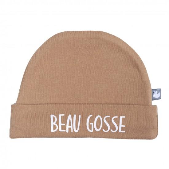 """Bonnet doublé pur coton """"Beau gosse"""" camel - Bonnets par BB&Co"""