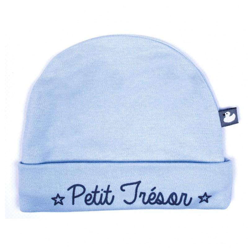 """Bonnet """"Petit Trésor"""" bleu ciel - Bonnets par BB&Co"""