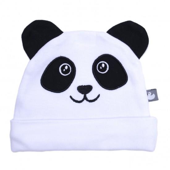 Bonnet Petit Panda avec oreilles blanc/noir - Bonnets par BB&Co