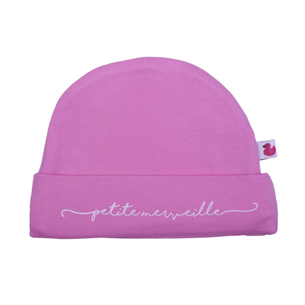 """Bonnet doublé pur coton """"Petite merveille"""" rose - Bonnets par BB&Co"""