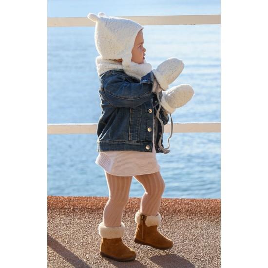 Bonnet chapka ours en sherpa blanc - Accueil par BB&Co