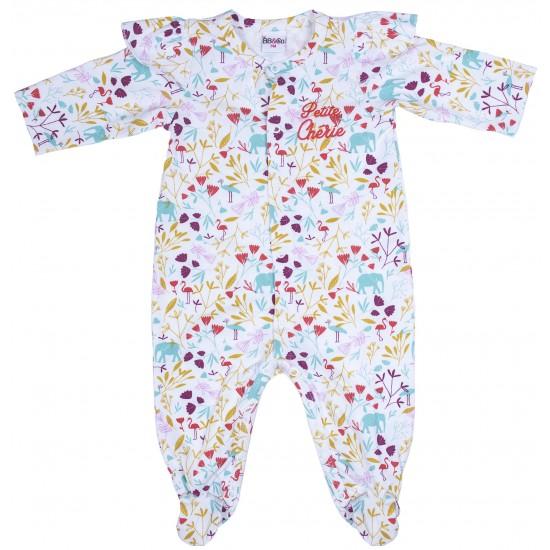 """Dors-bien jersey """"Petite chérie"""" Exotic Garden imprimé exotic - Pyjamas par BB&Co"""