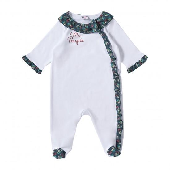 """Dors-bien coton """"Ma Poupée"""" blanc Vintage Flowers - Pyjamas par BB&Co"""