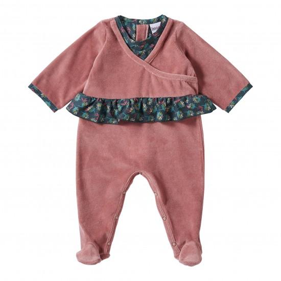Dors-bien velours rose Vintage Flowers - Pyjamas par BB&Co