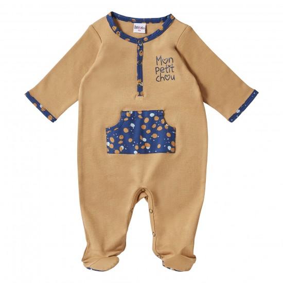 Dors-bien coton camel/indigo Stardust - Pyjamas par BB&Co