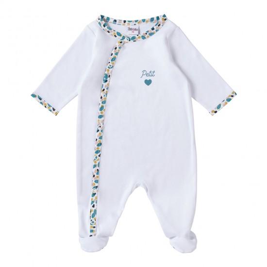 """Dors-bien coton blanc / imprimé multicolore """"Petit Coeur"""" Baby Pop - Pyjamas par BB&Co"""