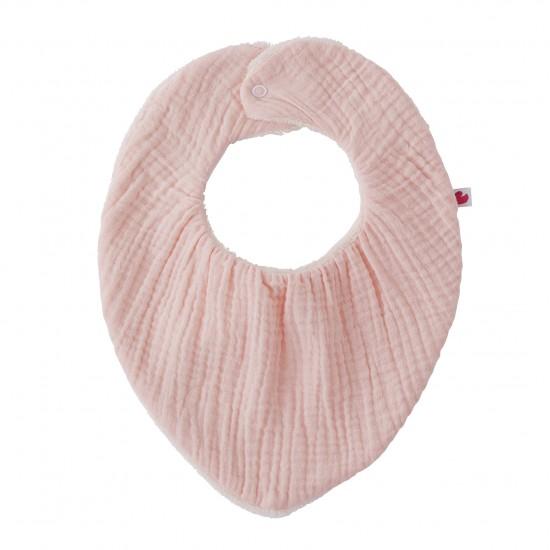 Bavoir-bandana réversible rose blush - Accueil par BB&Co