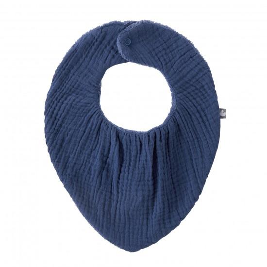 Bavoir-bandana réversible indigo - Accueil par BB&Co