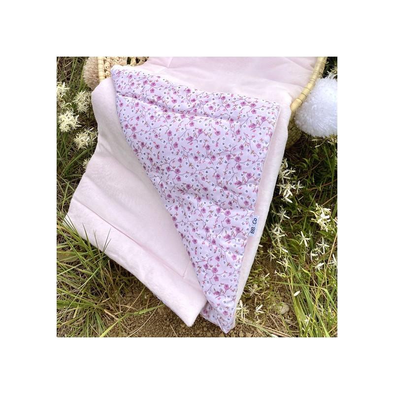 Couverture Luxe en Minky Frenchy Liberty - rose pastel / liberty - Couvertures & Plaids par BB&Co
