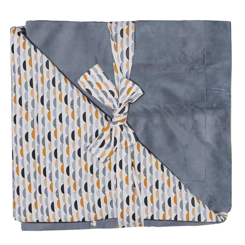 Couverture Luxe en Minky gris/blanc/camel - Couvertures & Plaids par BB&Co