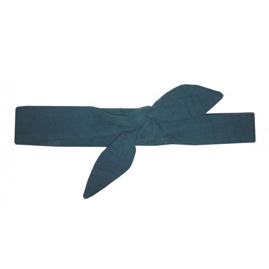 Bandeau à nouer gaze uni vert paon - Accessoires Cheveux par BB&Co