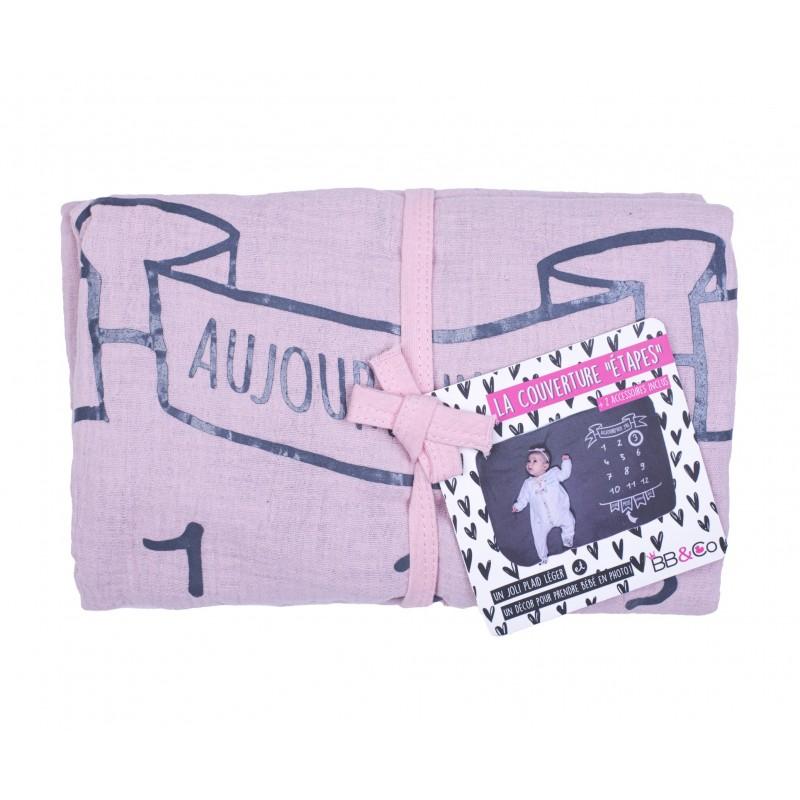 Couverture décor pour photos + 2 accessoires - rose/gris - Kits & décors pour photos par BB&Co