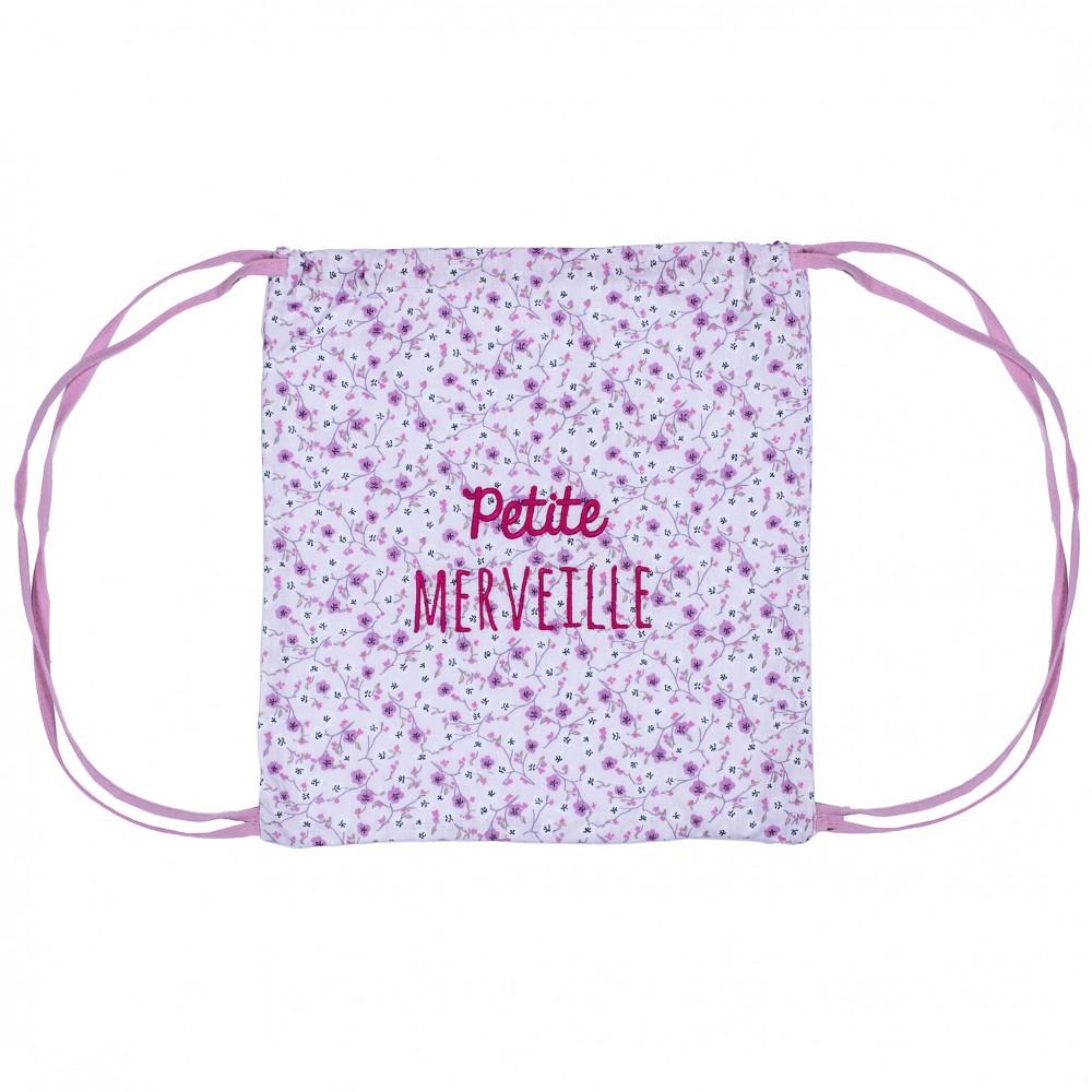 """Sac à dos coton """"Petite merveille"""" liberty / rose - Sacs enfants par BB&Co"""