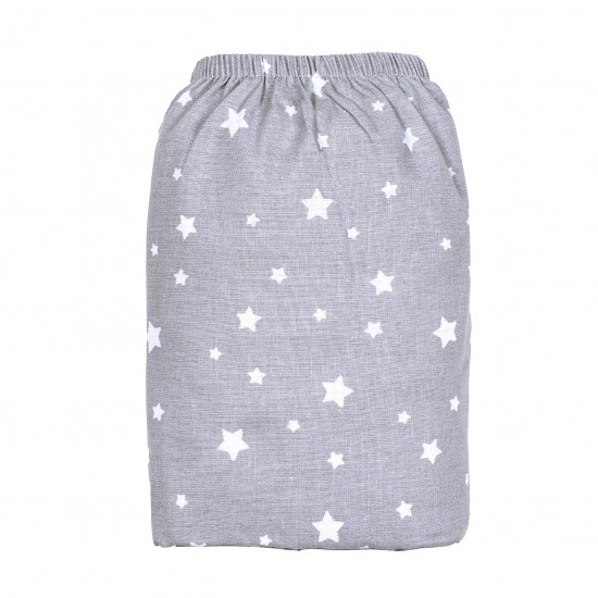 Drap housse 60 x 120 cm étoiles gris/blanc - Draps et parures de lit par BB&Co