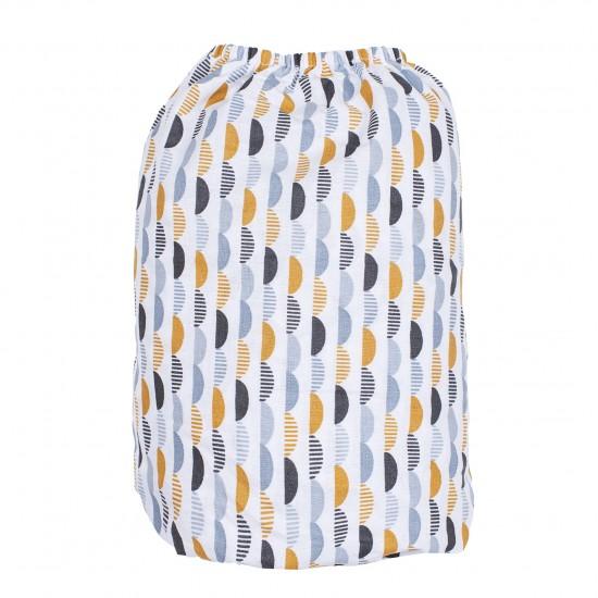 Drap housse 60 x 120 cm gris/blanc/camel - Draps et parures de lit par BB&Co