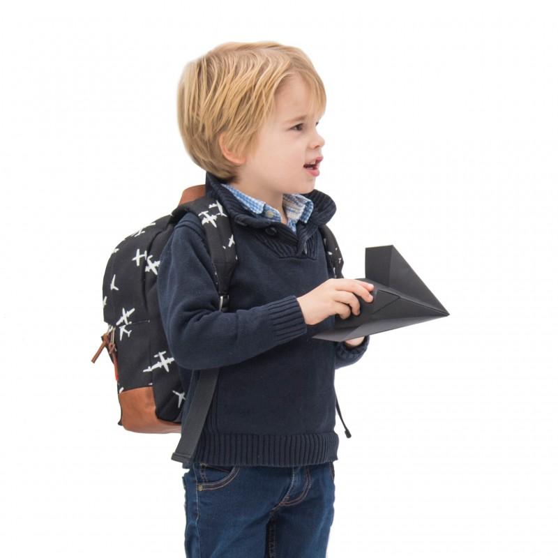 Sac à dos enfant Black & White - Avions par Kidzroom - Sacs enfants par KIDZROOM