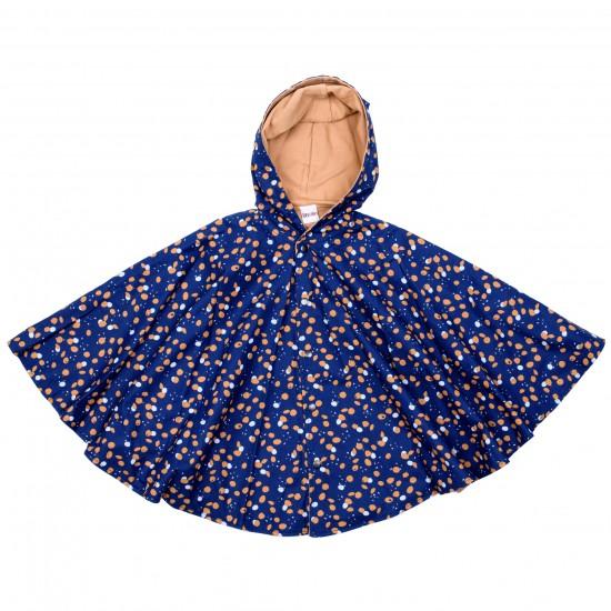 Cape de pluie - indigo/camel - Accueil par BB&Co