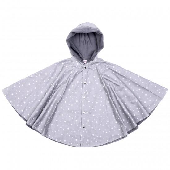 Cape de pluie - étoiles gris/blanc - Accueil par BB&Co
