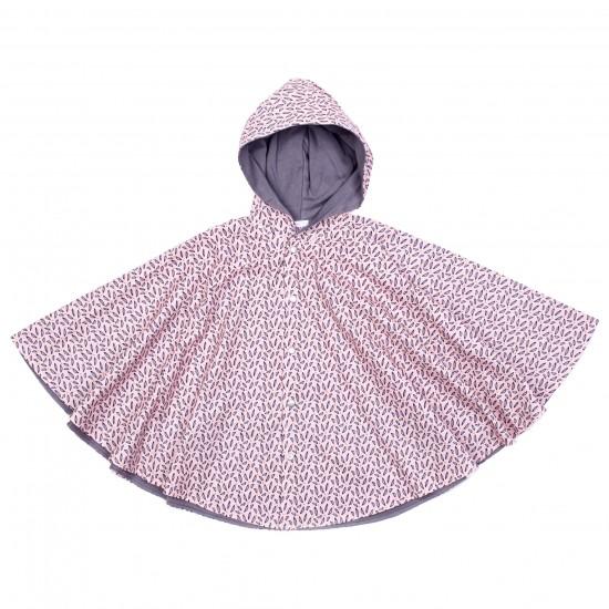 Cape de pluie - rose/gris - Accueil par BB&Co