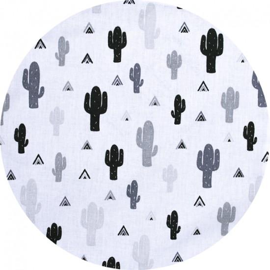 Drap housse 60 x 120 cm imp. cactus n&b - Draps et parures de lit par BB&Co