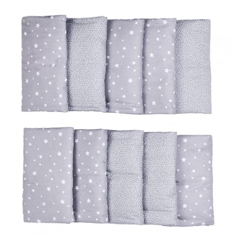 Tour de lit modulable & respirant gris/blanc Une Etoile est Née - Tours de lit et tresses décoratives par BB&Co
