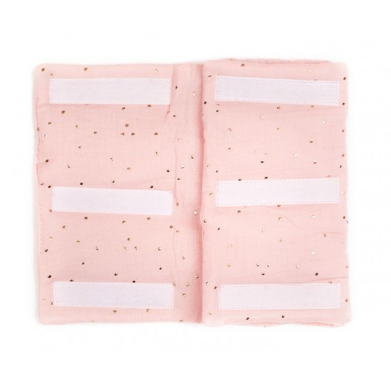 Tour de lit modulable & respirant blush/prune pois or Girly Chic - Tours de lit et tresses décoratives par BB&Co