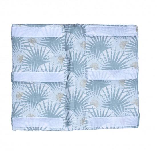 Tour de lit modulable & respirant imprimé palmiers/vert Palm Springs - Tours de lit et tresses décoratives par BB&Co