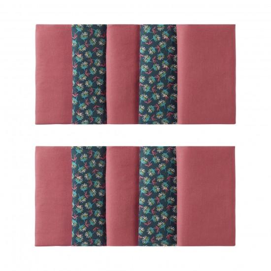 Tour de lit modulable & respirant (10 éléments) framboise/fleurs Vintage Flowers - Tours de lit et tresses décoratives par BB&Co