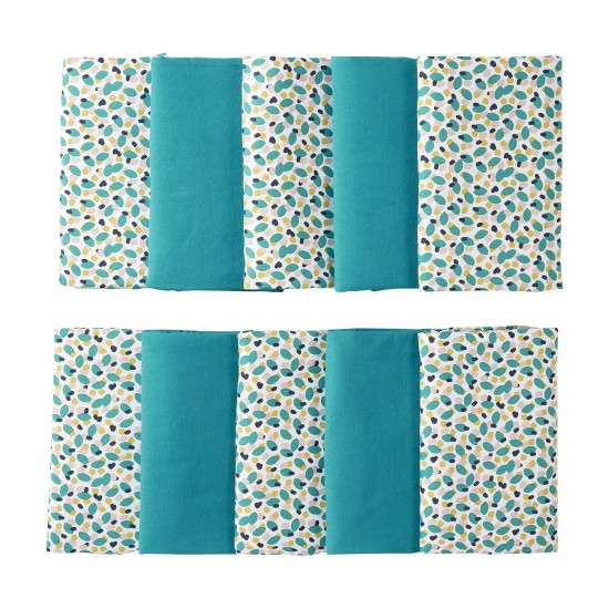 Tour de lit modulable & respirant (10 éléments) multicolore/émeraude Baby Pop - Tours de lit et tresses décoratives par BB&Co