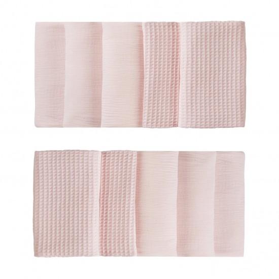 Tour de lit modulable & respirant (10 éléments) rose blush Mix & Match - Tours de lit et tresses décoratives par BB&Co