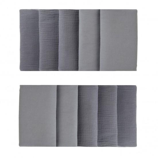 Tour de lit modulable & respirant (10 éléments) gris foncé Mix & Match - Tours de lit et tresses décoratives par BB&Co