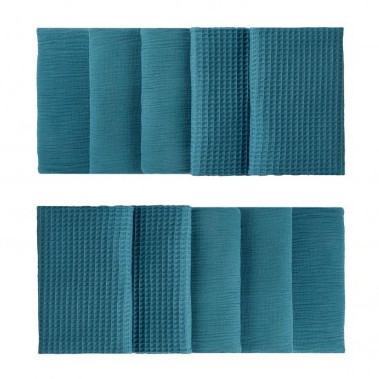 Tour de lit modulable & respirant (10 éléments) vert paon Mix & Match - Tours de lit et tresses décoratives par BB&Co
