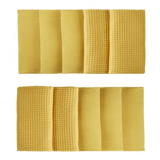 Tour de lit modulable & respirant (10 éléments) moutarde Mix & Match - Tours de lit et tresses décoratives par BB&Co