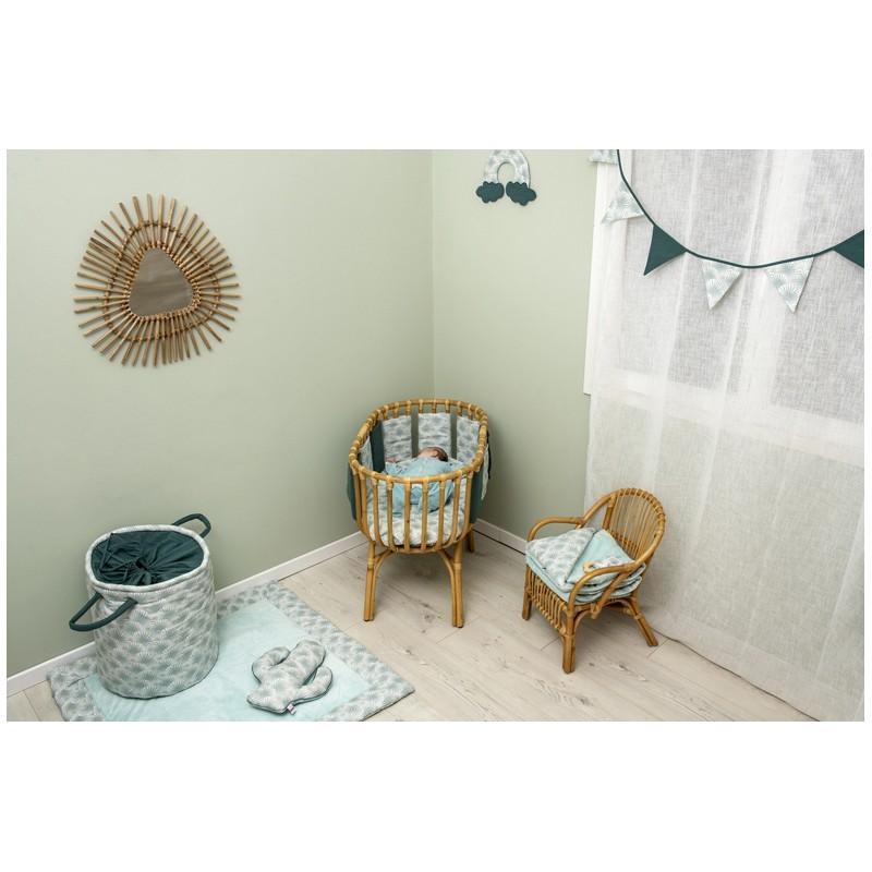 Guirlande fanions coton Palm Springs imprimé palmiers / vert - Guirlandes et décoration murale par BB&Co