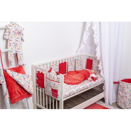 Guirlande fanions coton Exotic Garden imprimé exotic / grenadine - Guirlandes et décoration murale par BB&Co
