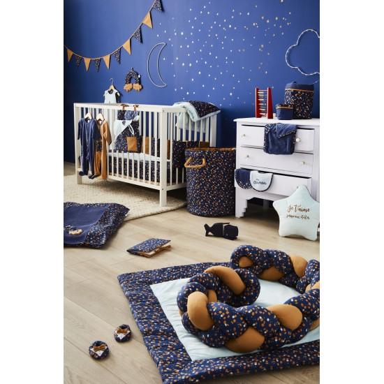 Guirlande fanions coton (longueur 250 cm) indigo/lagon/camel Stardust - Guirlandes et décoration murale par BB&Co